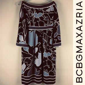 BCBGMAXAZRIA Peek-a-boo Shoulder Tunic Floralprint